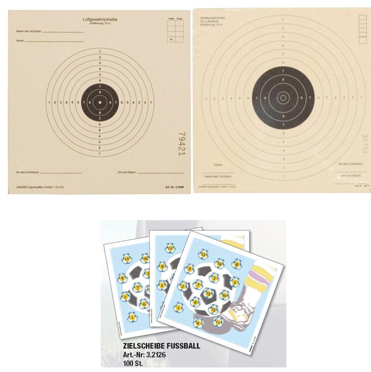 Umarex Zielscheiben Karton  für Kugelfang zur Auswahl 14x14 17x17 17x17 17x17 Sportschützen ccf155