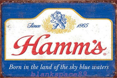 Metal Tin Sign hamm/'s beer poster  Decor Bar Pub Home Vintage Retro