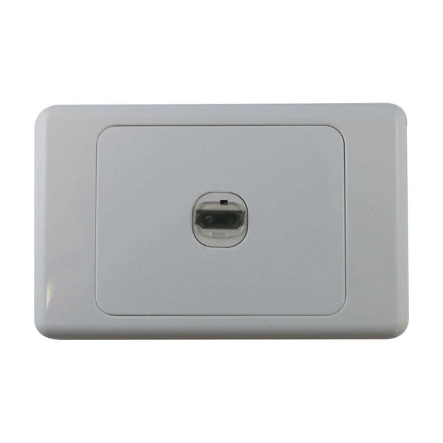 1 Gang Wall Plate Wallplate Clipsal Style 1 HDMI Jack / TV