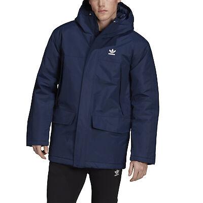 adidas Originals Padded Parka Herren Winterjacke blau Warm Outdoor ED5836 | eBay