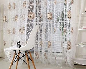 fenetre-balcon-RIDEAU-TULLE-VOILE-Panneau-de-porte-transparent-Echarpe-chambre