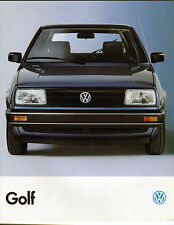 1989 Volkswagen Golf Sales Catalog / Canadian Market