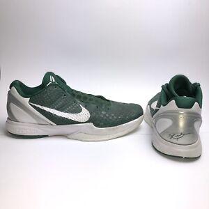 b7e018f8a068 Nike Zoom Kobe VI 6 Basketball Shoes Gorge Green White Silver Men s ...