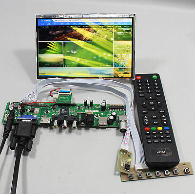 TV HDMI VGA AV USB AUDIO LCD controller Board 7inch HSD070PWW1 1280x800 IPS lcd