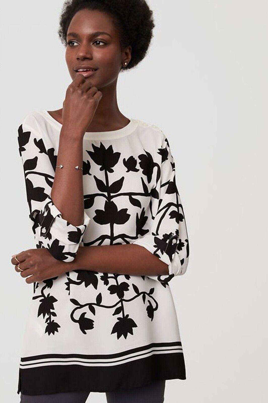 029c7381bbe NWT LOFT Whisper Shadow Floral Blouse Size S Shirt White nndauq7889 ...