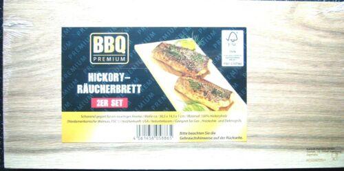 BBQ Premium räucherbrett de cèdre ou hickoryholz 2er Set neuf et neuf dans sa boîte