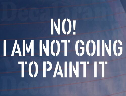I AM NOT GOING TO PAINT IT Funny Rusty Ratted Car//Van//Window Sticker LARGE NO