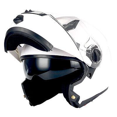1Storm HJA113 Motorcycle Modular Flip up Full Face Helmet Shield Model HJA113