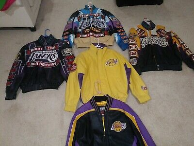 Nba Los Angeles Lakers Leather Championship 2000 2001 2002 Jackets Jeff Hamilton Ebay