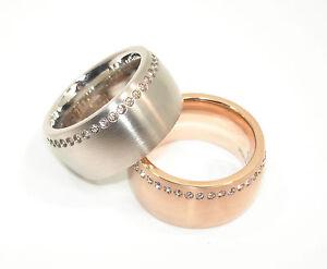Edelstahlring-316L-Damen-Ring-12mm-rosegold-silber-Edelstahl-Modern-Zirkonia