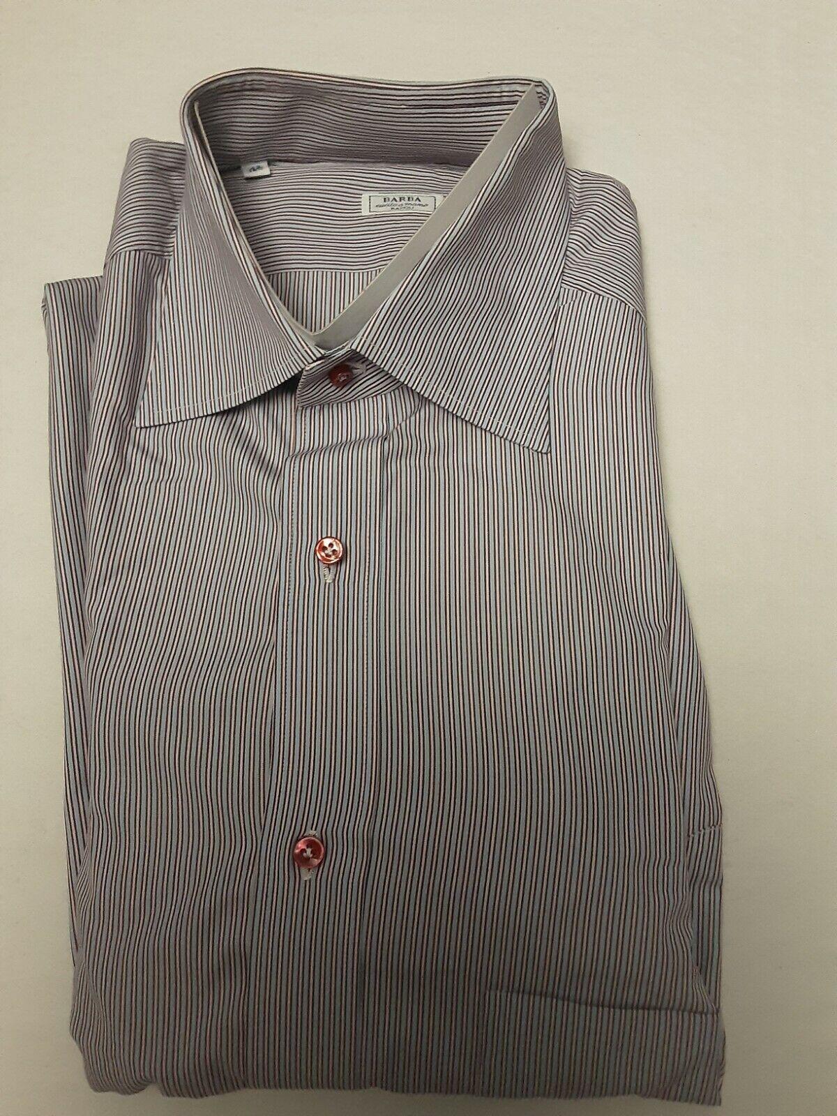 New $325 Barba Napoli Brown Plaid Shirt 372U13T Extra Slim