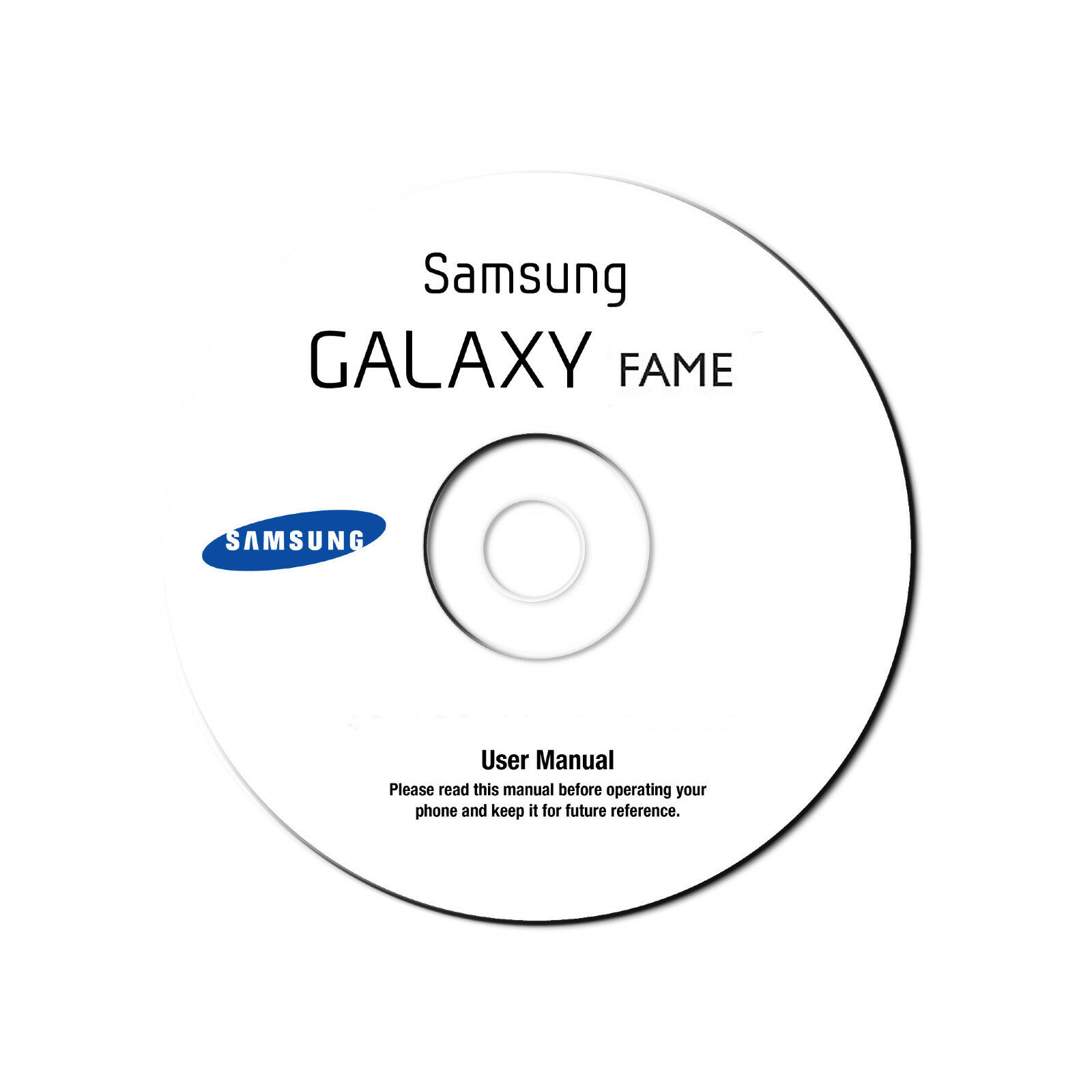 User Manual for Samsung Galaxy Fame GT-S6810 Smart Cell Phone (Jellybean) on CD