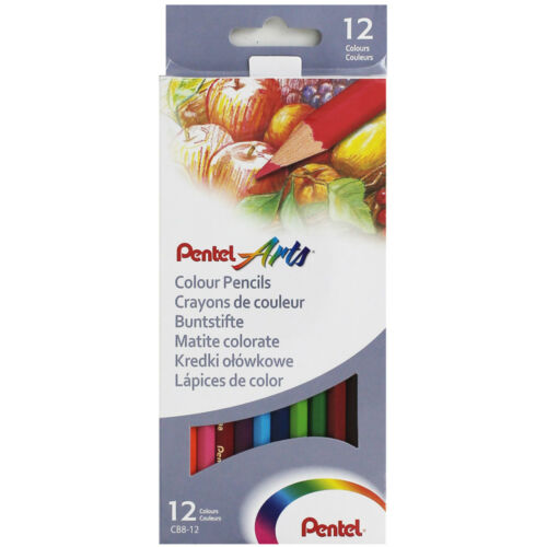 Pentel Arts Colour Smooth Vibrant Colours 12 24 Pencils Set Upto 70/% OFF RRP *