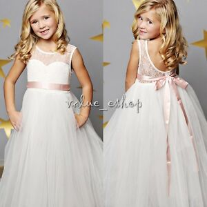 Kids-Baby-Flower-Girl-Princess-Dress-Pageant-Wedding-Bridesmaid-Party-Prom-Gown