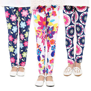 Baby-Girls-Kids-Toddlers-Printed-Flower-Classic-Leggings-Pants-Jeans-Clothing