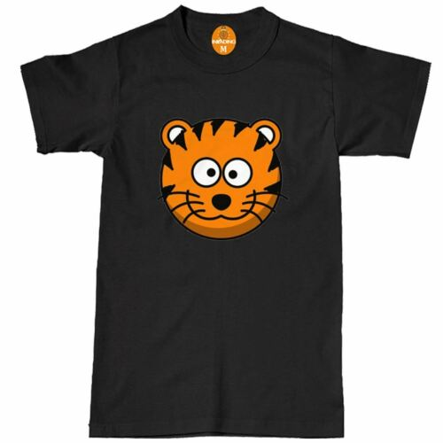 Tiger Face All Over Print Fashion Vintage Summer Holiday Mens T Shirt