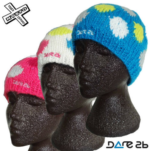DARE2B /'TUMBLER/' KIDS BEANIE HAT COLOURS BLUE PINK WHITE AGES 2-6 7-10 SNOW BNWT
