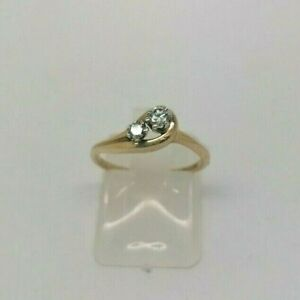 9ct-Diamond-Duo-Fancy-Set-Ring-1-4g-Size-I-5