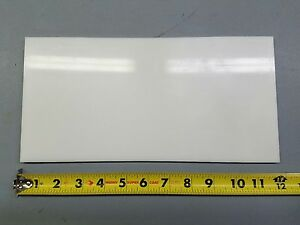 "WHITE DELRIN PLATE 1//2/"" X 6/"" X 6/"""