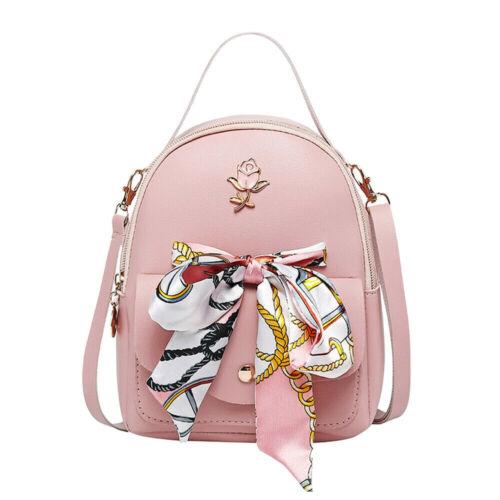 Women Girls School Bag PU Leather Backpack Mini Rucksack Purse Travel Handbag US