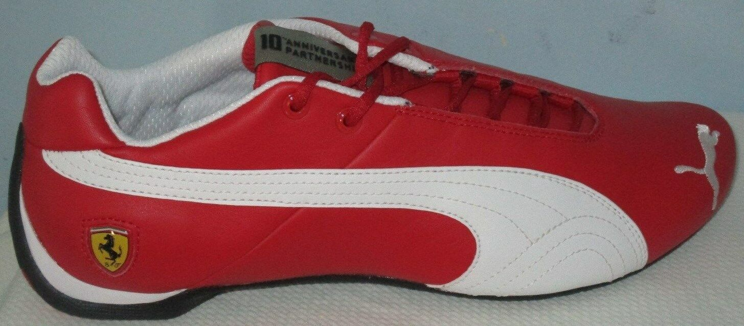 MEN'S PUMA FUTURE CAT LEATHER SF -10-  ROSSO CORSA/WHITE SHOES SIZE 9.5