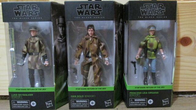 STAR WARS Black Series Endor Han, Leia, Luke set trio COMPLETE