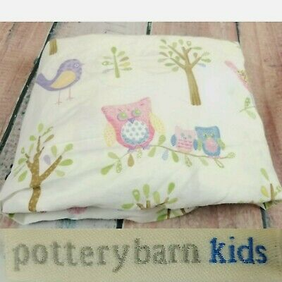 POTTERY BARN KIDS Hayley Crib Toddler Bed Sheet Fitted Owls Birds