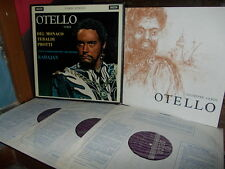 VERDI: Otello   Del Monaco Tebaldi Protti Vienna Karajan /Decca SET 209-11 WB UK
