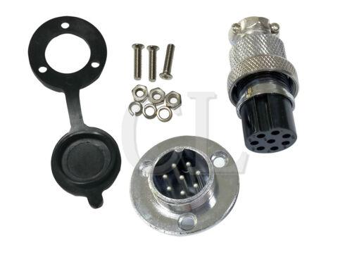 2SET bouchon anti-poussière GX20 connecteur cuivrage circulaire Bride 2-8PIN//core