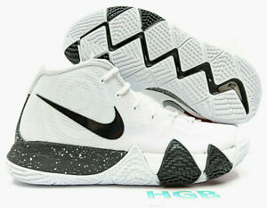 uk availability a810b 44fac Details about Nike Kyrie 4 TB Men White Black Kyrie Irving Basketball Team  Bank AV2296-100 NIB