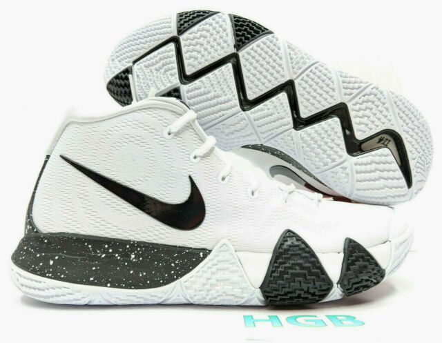 b57f8cc28654 Nike Kyrie 4 TB Men White Black Kyrie Irving Basketball Team Bank  AV2296-100 NIB