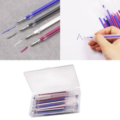 40Pcs//Set Heat Erasable Pens High Temperature Disappearing Fabric Marker Refills