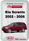 Kia Sorento 2002 2003 2004 2005 2006 Factory Workshop Service Repair Manual
