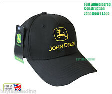 Vendedor Reino Unido Nuevo Original John Deere Gorro Negro Tractor Béisbol Twill Sombrero
