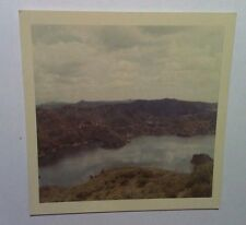 Vintage 60s PHOTO Marina Del Rey Beautiful Mountain Coast Scenery Blue Lake