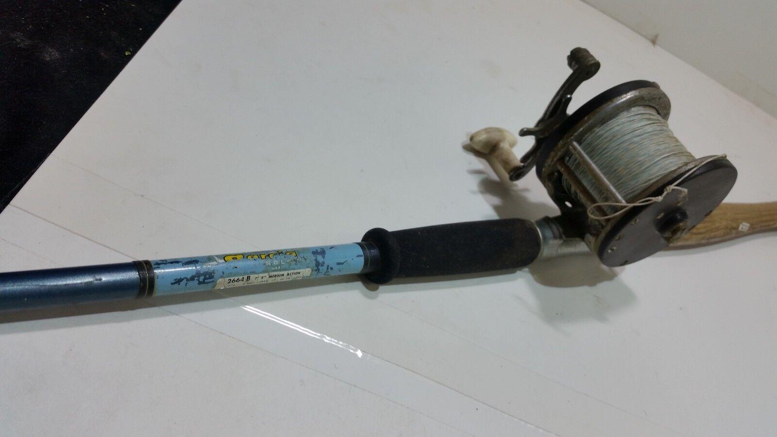 Vintage garcia caña de pesCoche con oceanlity Fishing Reel