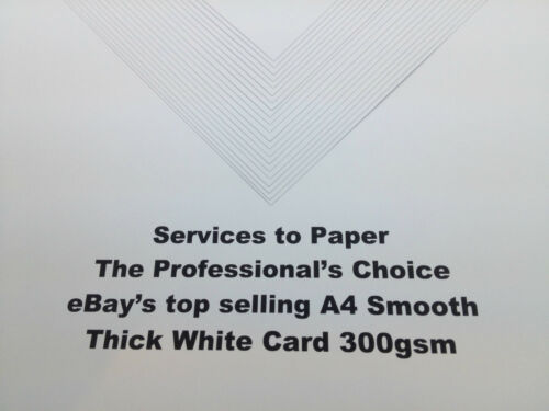 100 X A4 Smooth Thick White Printer Craft Card 300gsm
