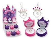 Petite Princess Crown Necklace In Figural Gift Box