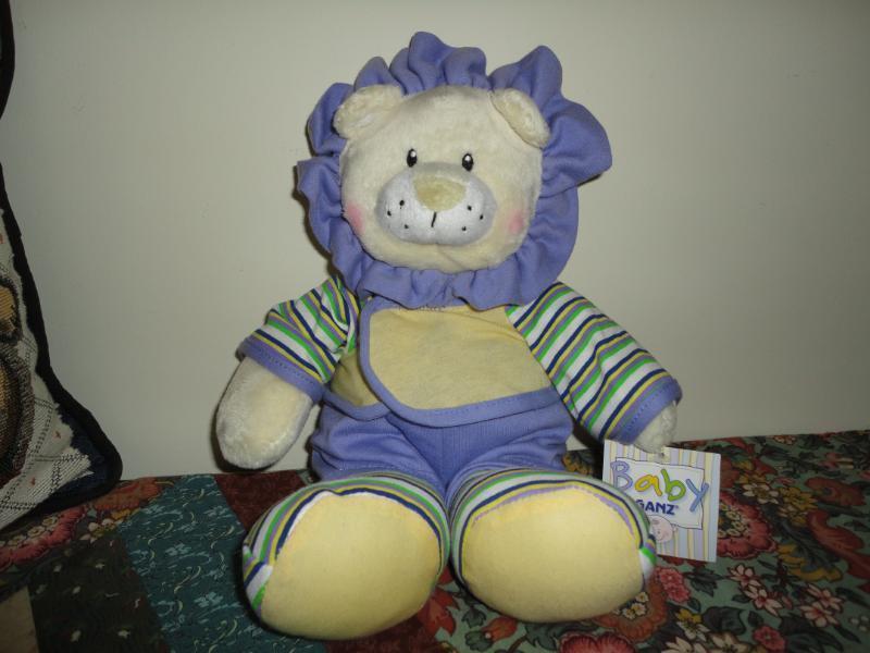 Baby Ganz COMFY PJS KENYA Lion Stuffed Plush 12 inch Tags