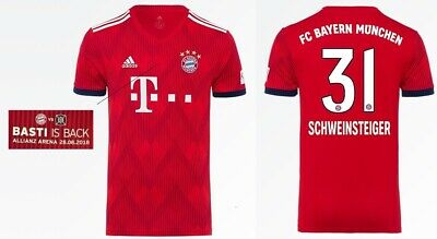FCB Schweinsteiger Trikot Adidas FC Bayern 2013-2014 Home 164 bis 3XL