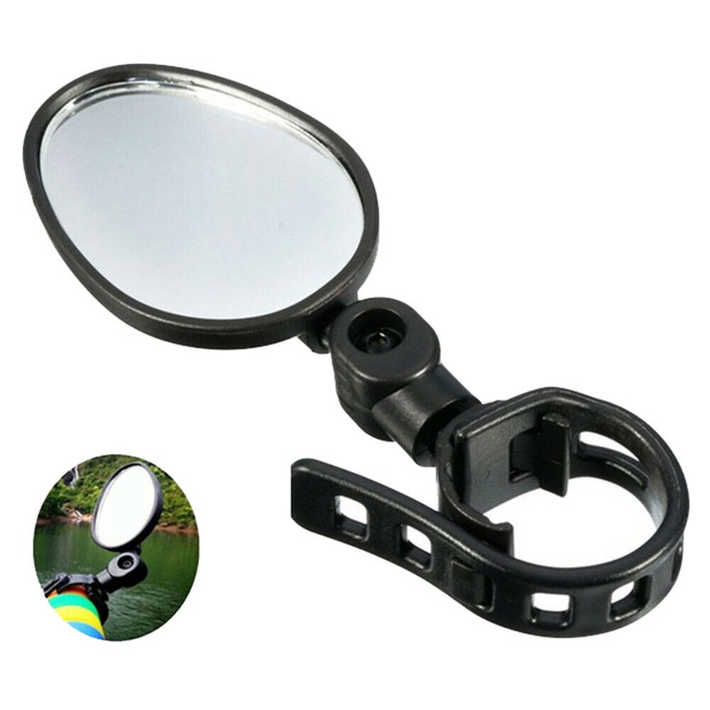 HK-  Bike Bicycle Handlebar Flexible Rear Back View Rearview Mirror Black Bicycle Accessories