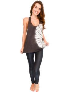 Women-039-s-Top-Tie-Dye-Design-Tank-Lace-Back