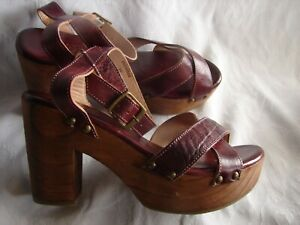 Details about  /Bed Stu WOMENS Size Us 7.5 Madeline 39401602 Teak Rustic Leather Casual Heels.