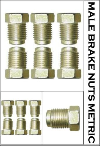6 x MALE BRAKE FITTINGS NUTS//UNIONS 10mm x 1mm for 3//16 BRAKE PIPE