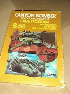 Canyon Bomber for Atari 2600 COMPLETE IN BOX ▪︎▪︎▪︎▪︎FREE SHIPPING ▪︎▪︎▪︎▪︎