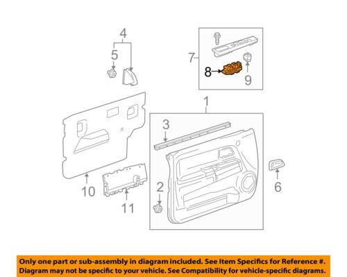 GM OEM Front Door-Window Switch 25779767