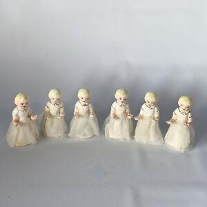Lot-Set-of-6-Vintage-Ceramic-Porcelain-Blonde-Girl-Figure-Tulle-Skirts