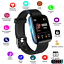 Smart-montre-Bracelet-Bracelet-Fitness-Rythme-Cardiaque-BP-Monitor-for-iPhone-Android miniature 1