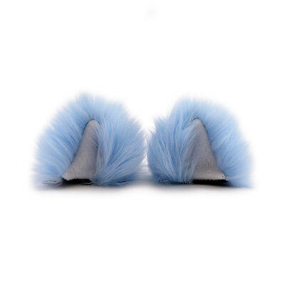 Furry Cosplay Light Baby Blue Pastel 3225 PAWSTAR Clip On In Kitty Cat Ears