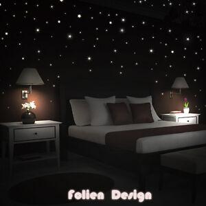 wandtattoo kinderzimmr leuchtender sterne nachleuchtend leuchtsterne bis 380 stk ebay. Black Bedroom Furniture Sets. Home Design Ideas